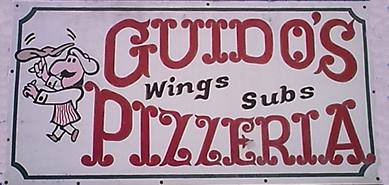 Guidos Pizzeria's sign