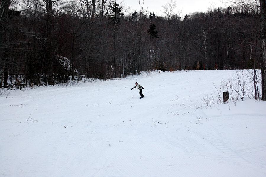 Lone Big Tupper Snowboarder