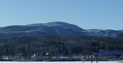 Big Tupper Ski Area's Ski Bowl from NY 30, Adirondack Club and Resorts