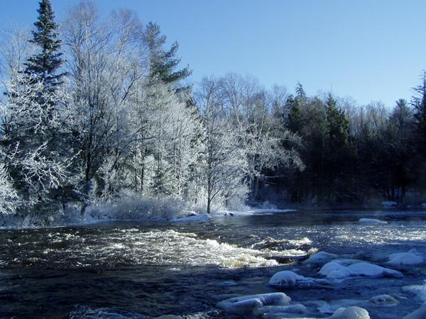 Bog River Falls in Ice