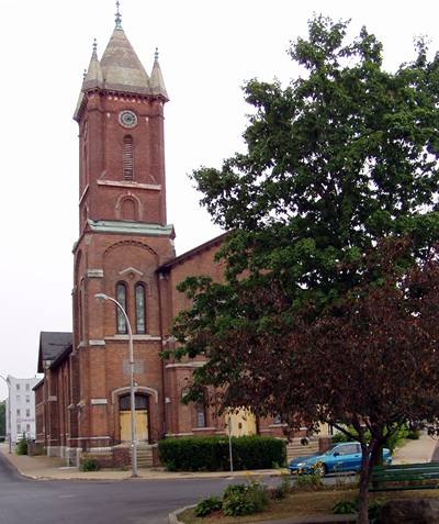Methodist Church in downtown Gloversville
