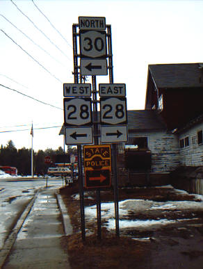 Junction with NY 28 Northbound