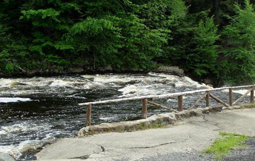 Saint Regis River right along the falls in campground