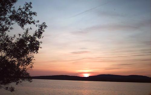 Sunset over Raquette Pond